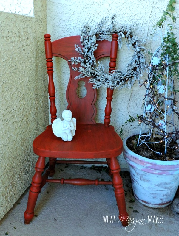 Thrifted Red-Chair