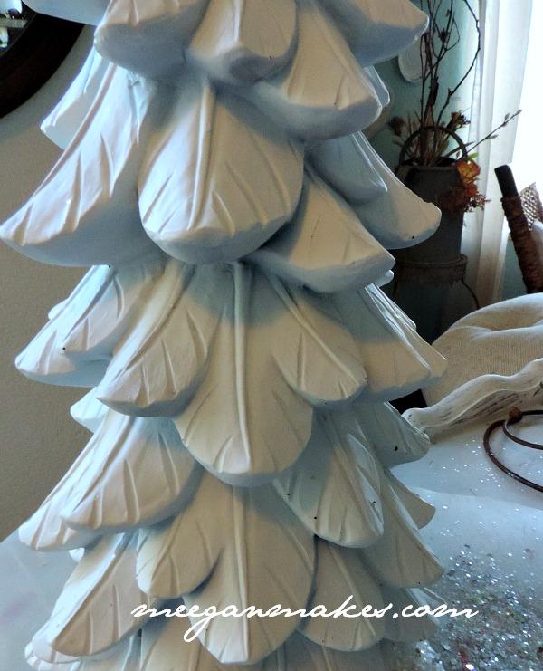 White Spray Painted Christmas Tree