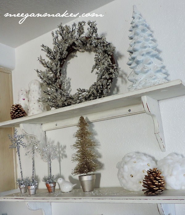 Winter White Shelves