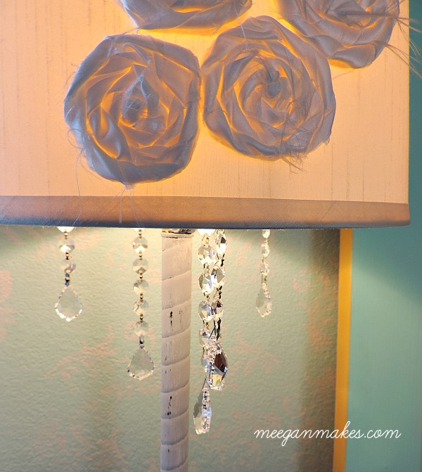 Add Crystals To Any Lamp For a Fresh Look