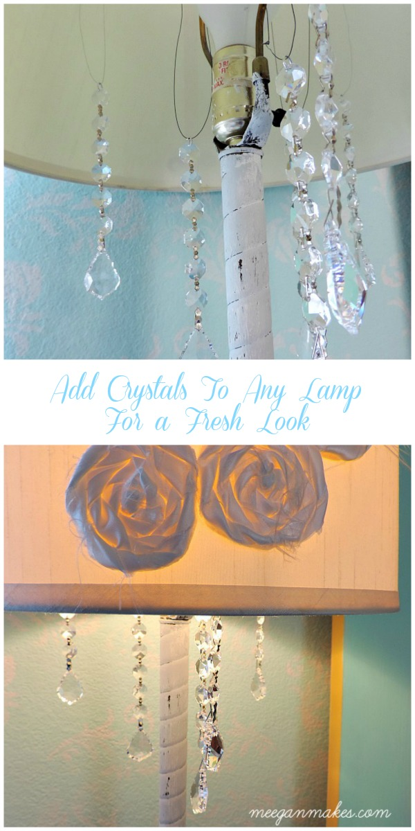 Add Crystals To Any lamp For a Fresh Look by meeganmakes.com
