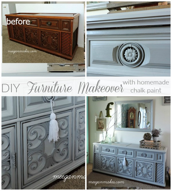DIY Furniture Makeover With Homemade Chalk Paint