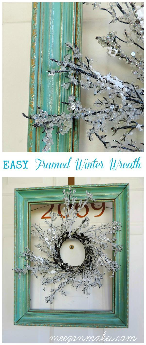 EASY Framed Winter Wreath