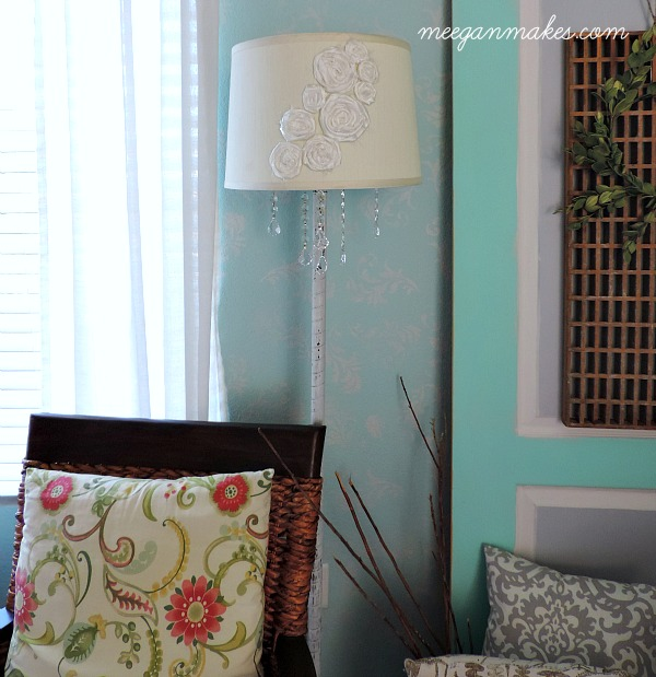 Floor Lamp DIY with Crystals