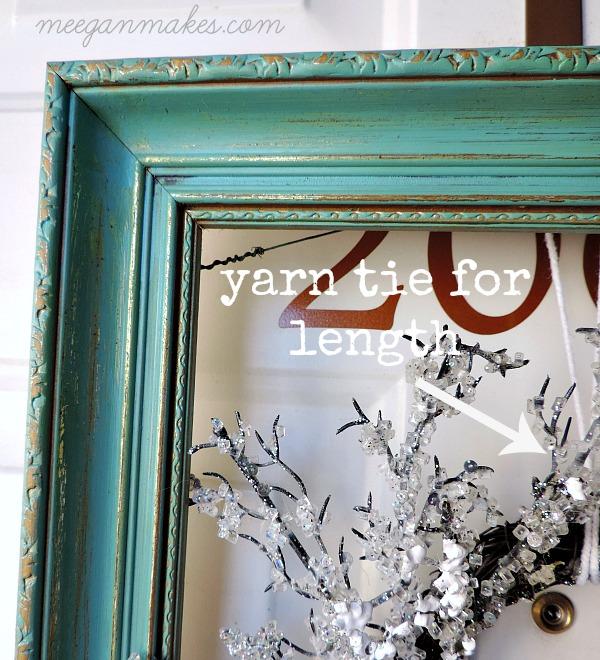 Framed Winter Wreath Instructions