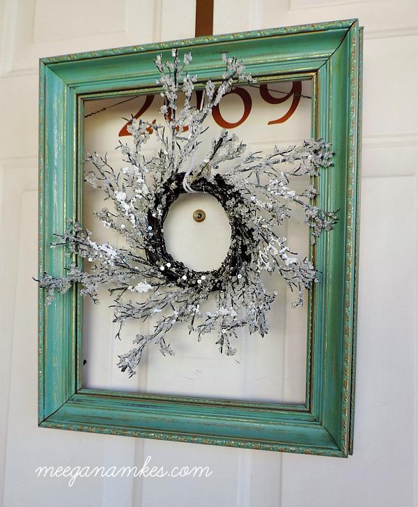 Framed Wintry Wreath