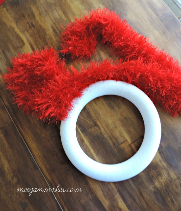 Valentine Scarf Wreath