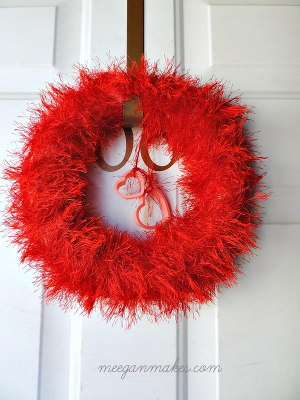 Valentines Scarf Wreath