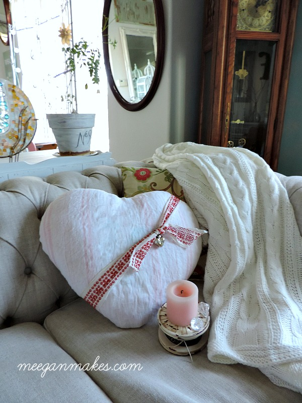 Vintage Valentine Pillow