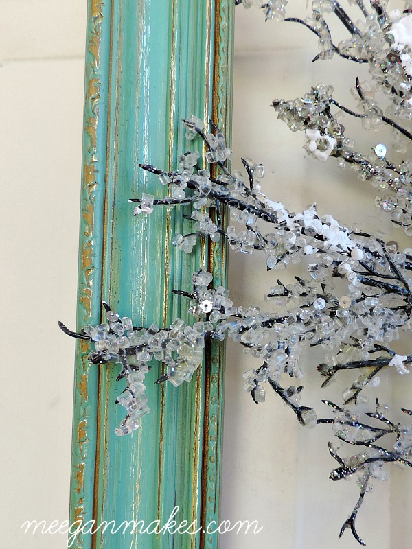 Winter Wreath in a Frame