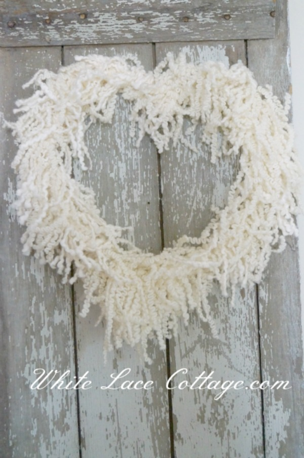 fringe heart wreath