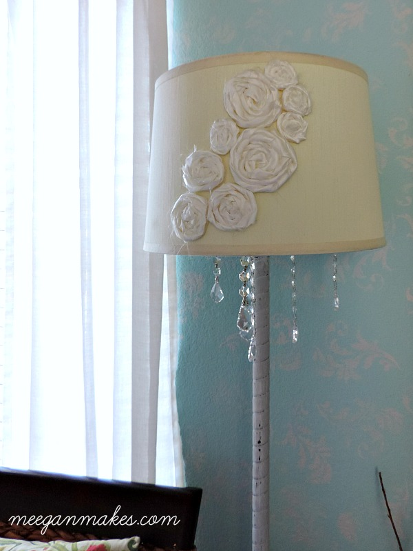 Adding Crystals To A Floor Lamp by meeganmakes.com