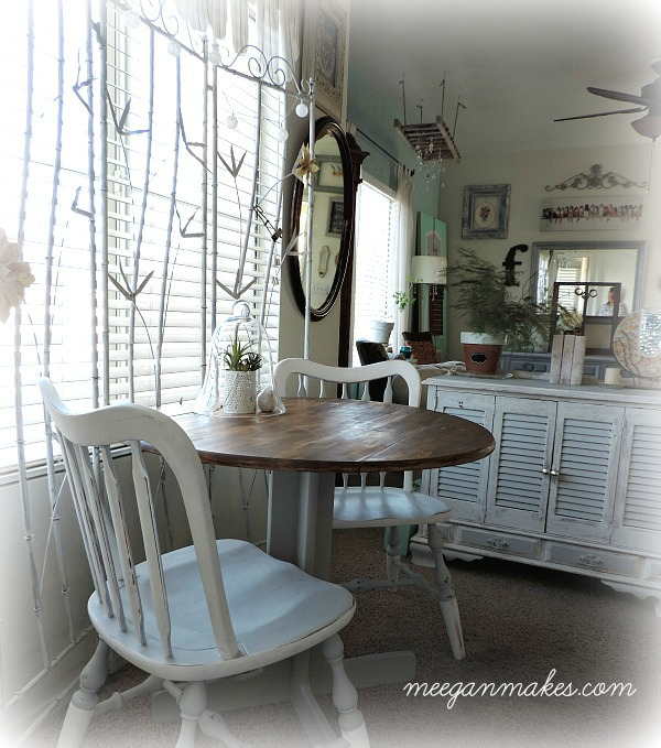 Breakfast Nook With Thrifted Furniture