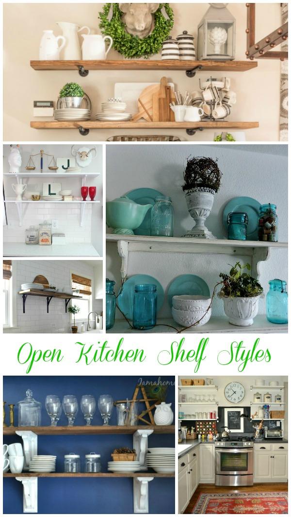 Open Kitchen Shelf Styles