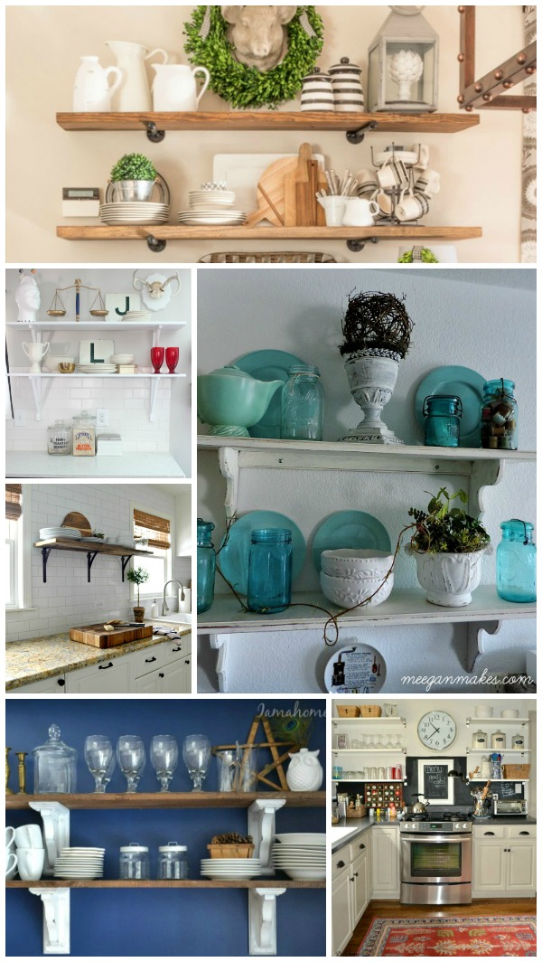 Open Kitchen Shelving Styles ans Ideas