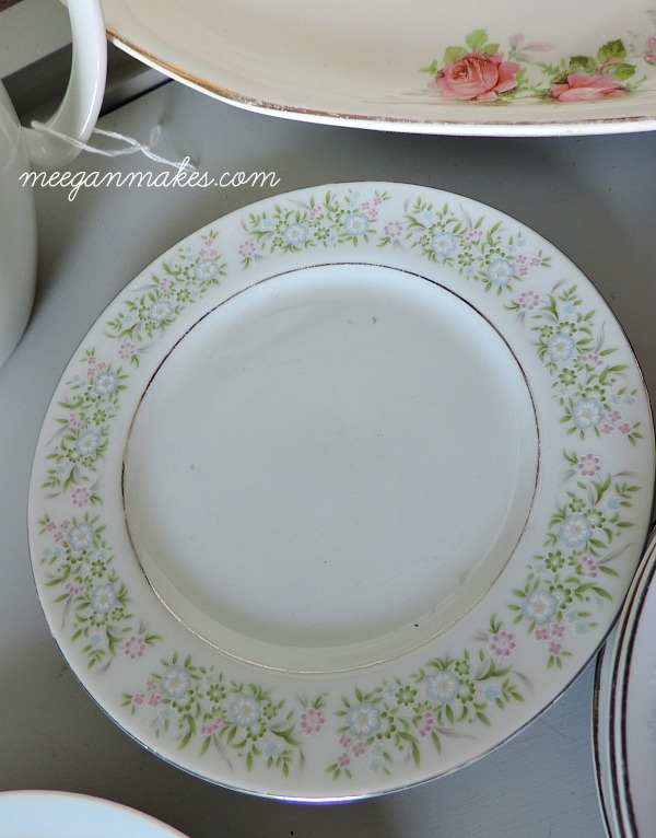 Thrifted Dessert Plate