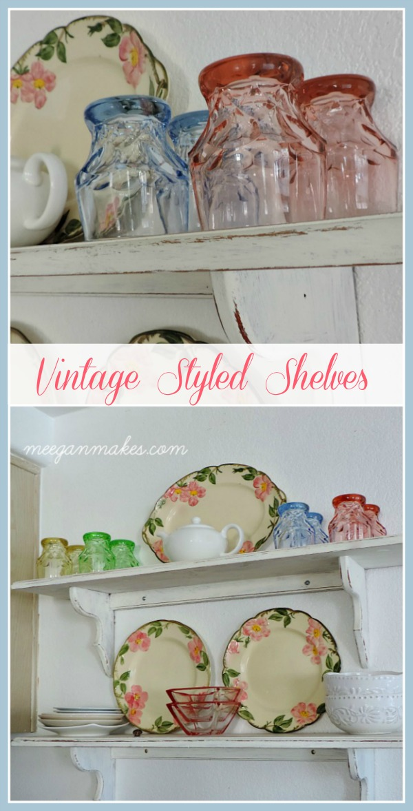Vintage Styled Shelves for Spring