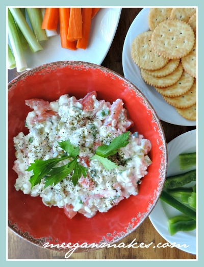 Button Italian Cottage Cheese Vegetable Dip