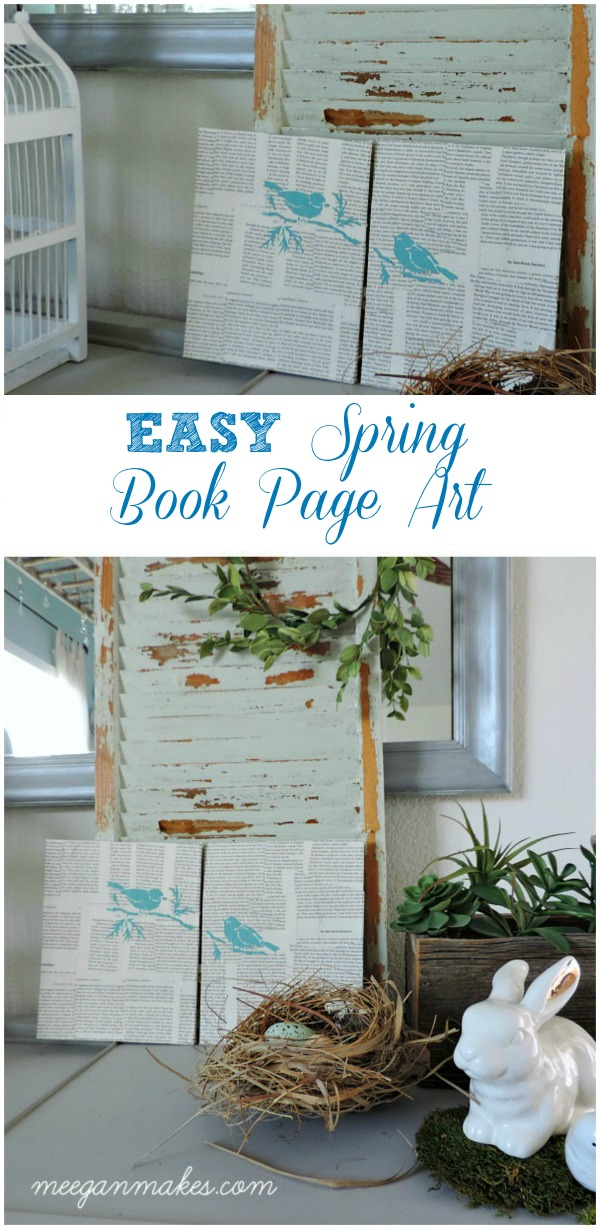 EASY Spring Book Page Art