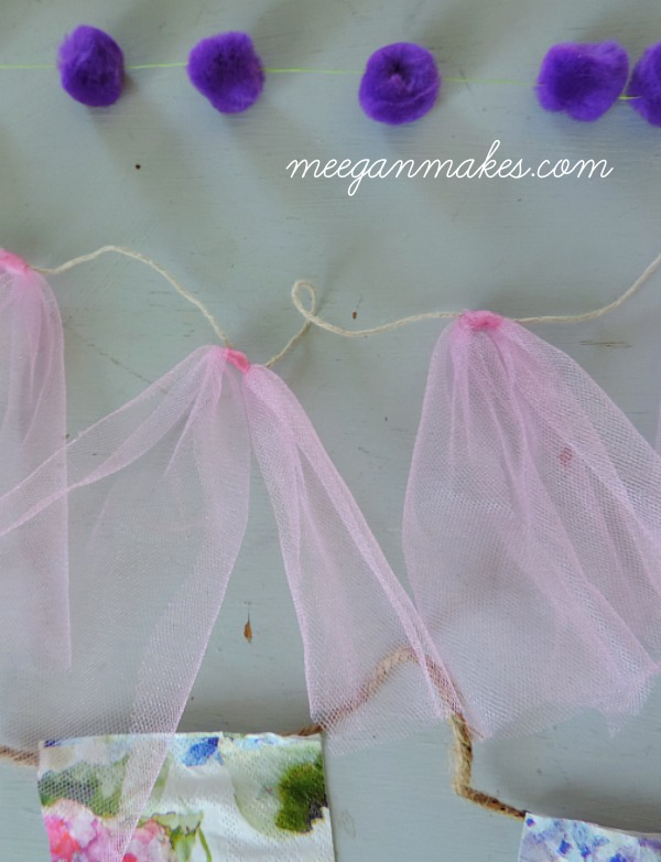 Easy To Make Tulle Banner