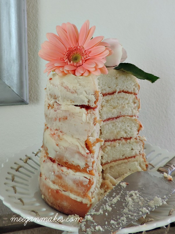 Naked Cake for a Tea Party by meeganmakes.com