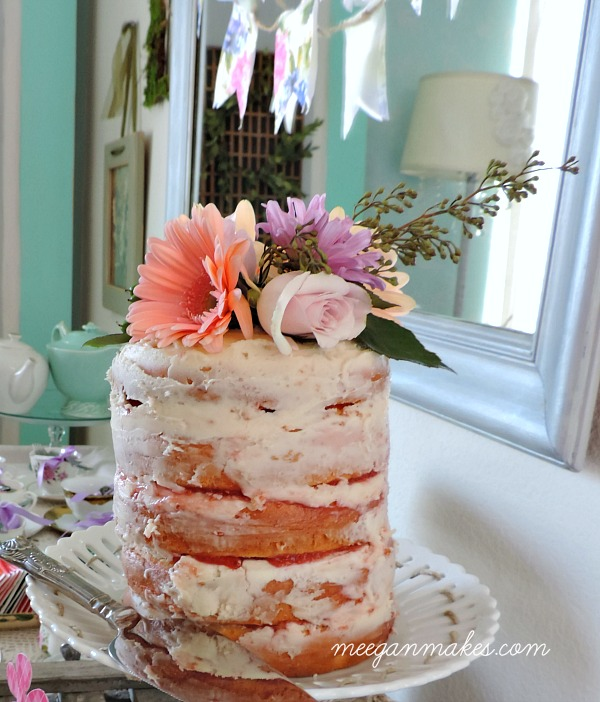 Rustic Cake with Fresh Butter Cream Frosting