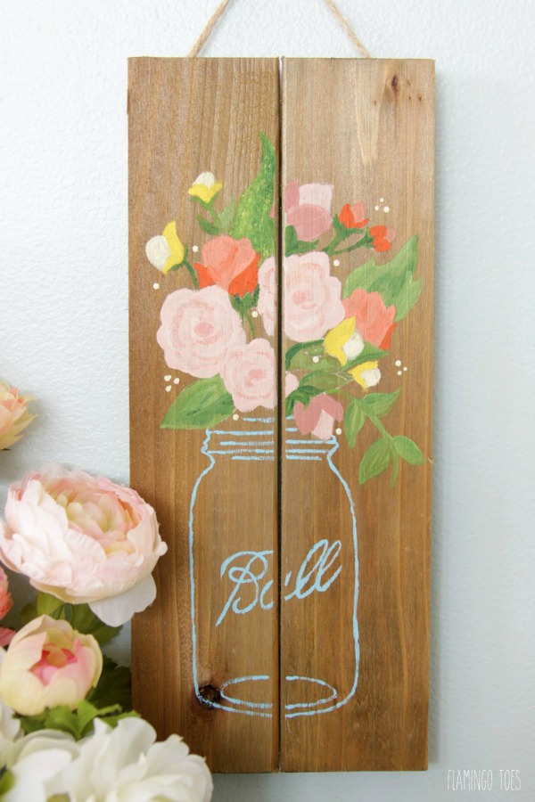 Simple-Mason-Jar-Pallet-Sign