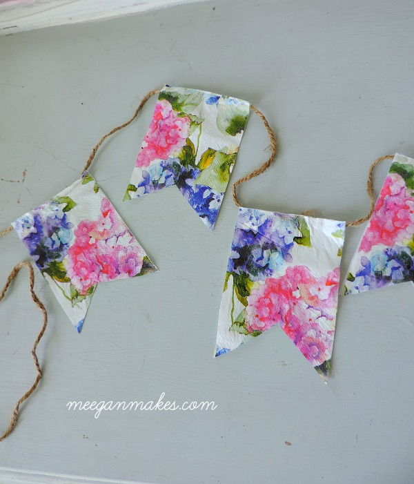 Spring Banner Made with Napkins