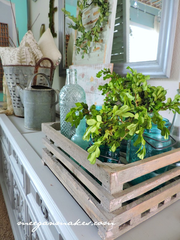 Spring Decorating with Boxwood Cuttings
