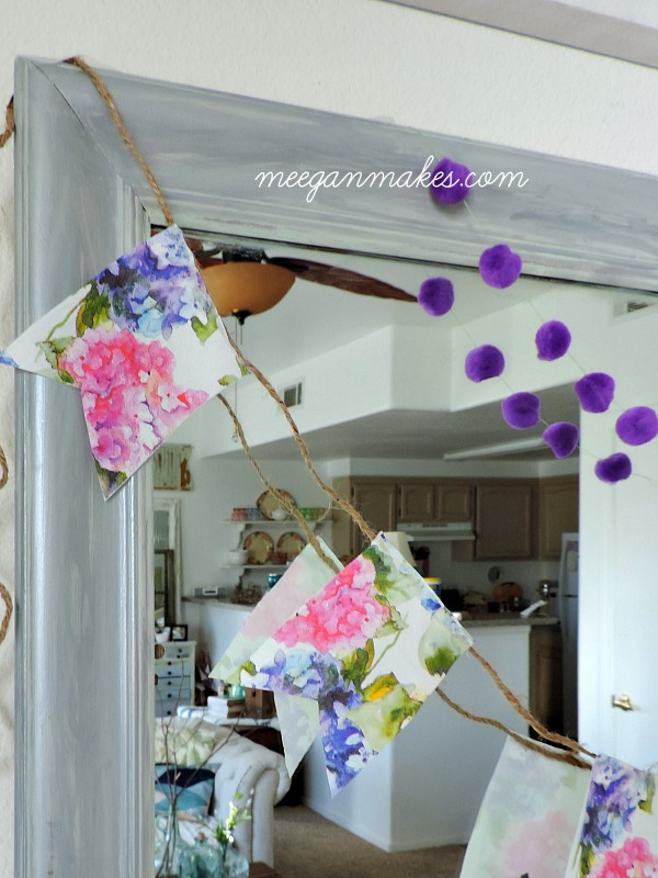 Spring Napkin Banner by meeganmakes