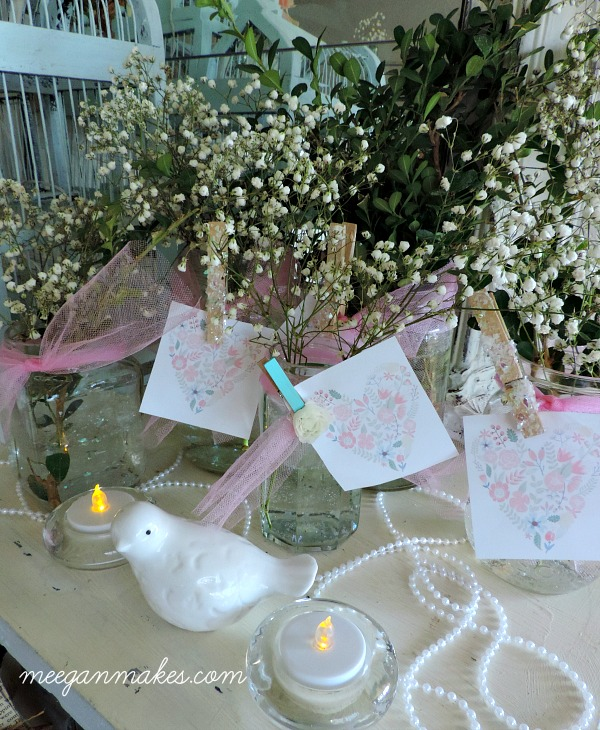 Spring Party Decorating with Baby's Breath