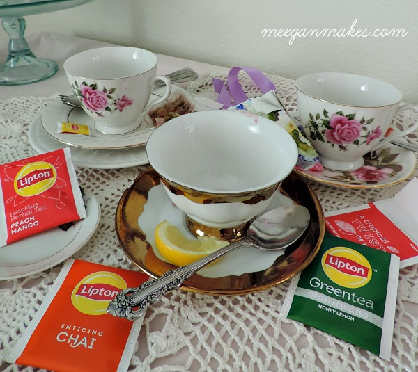Tea Party with Lipton Tea Varieties