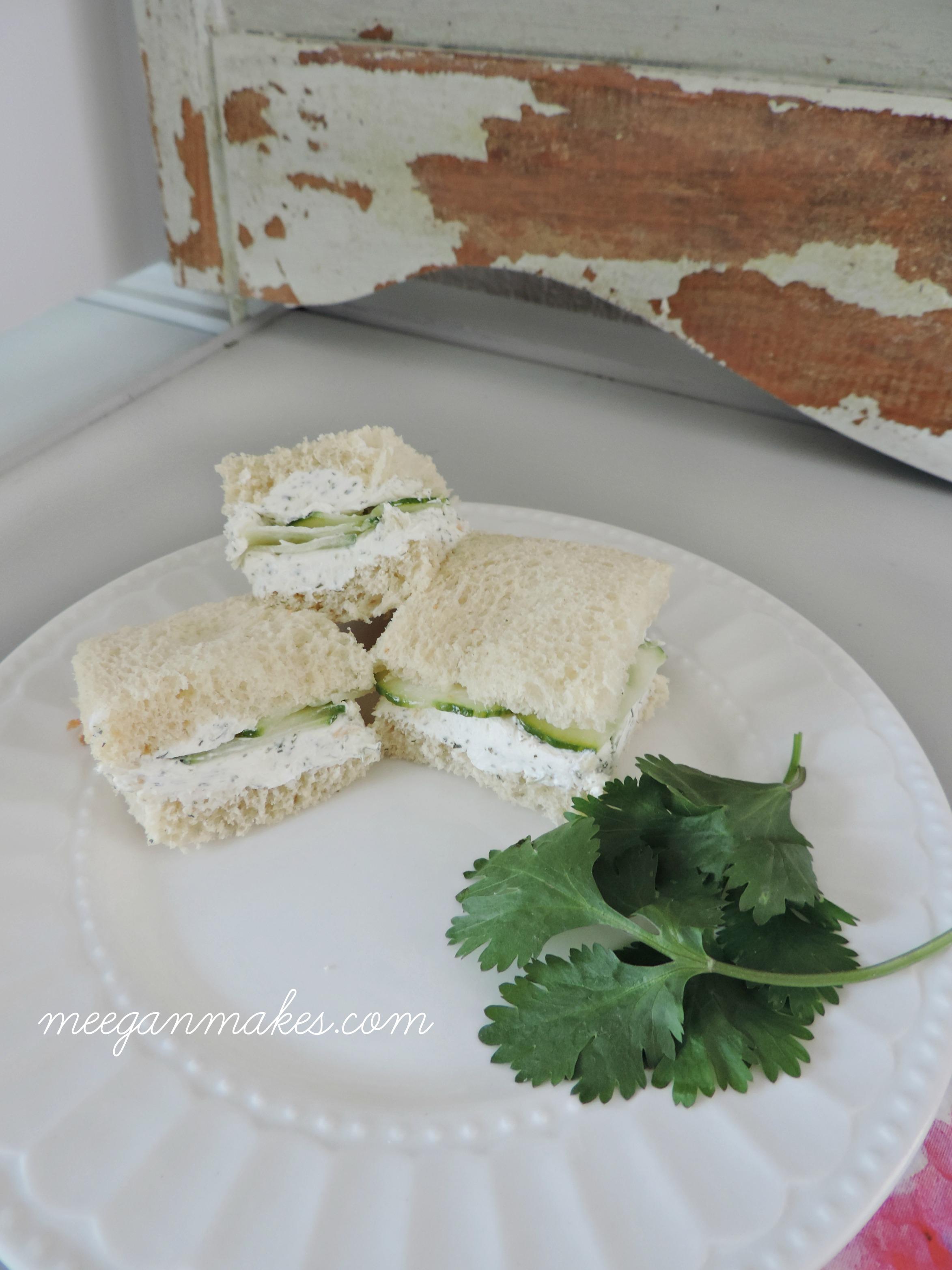 Easy Cucumber Finger Sandwiches
