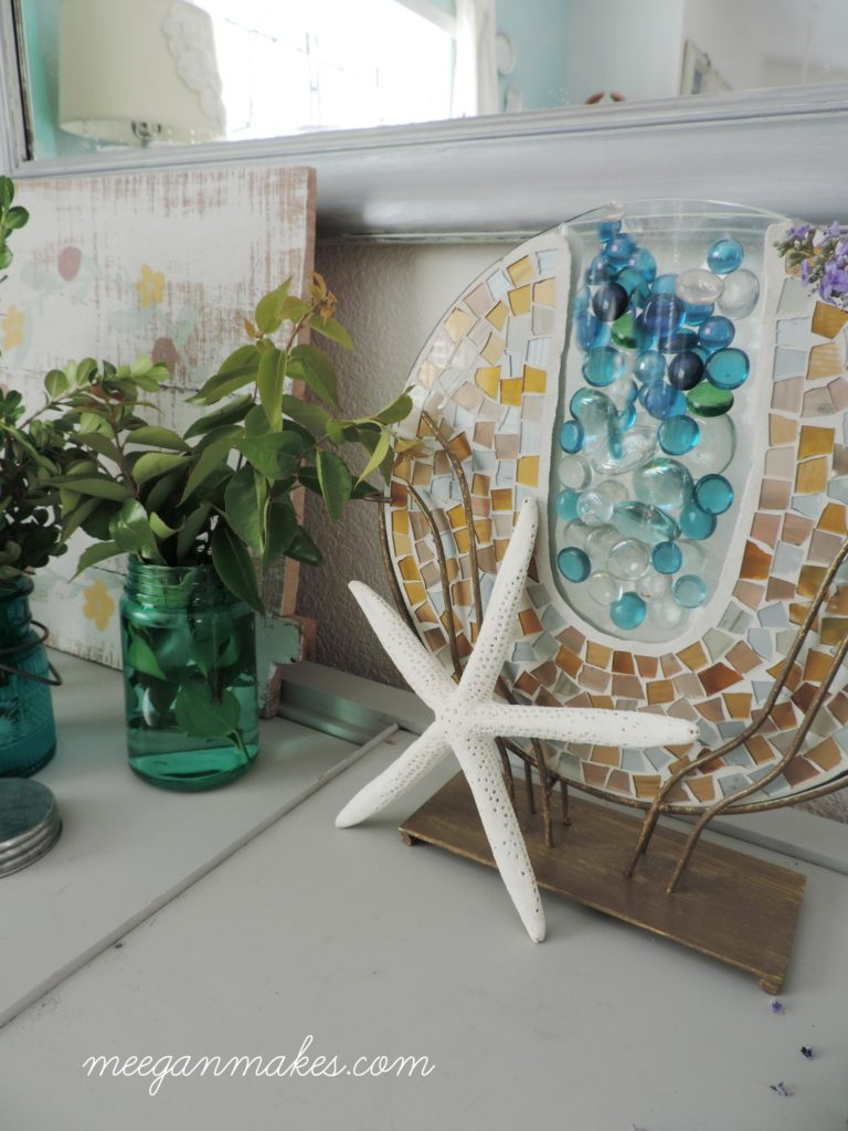 Blue and Green Marbles for Summer Decorating. Love it!