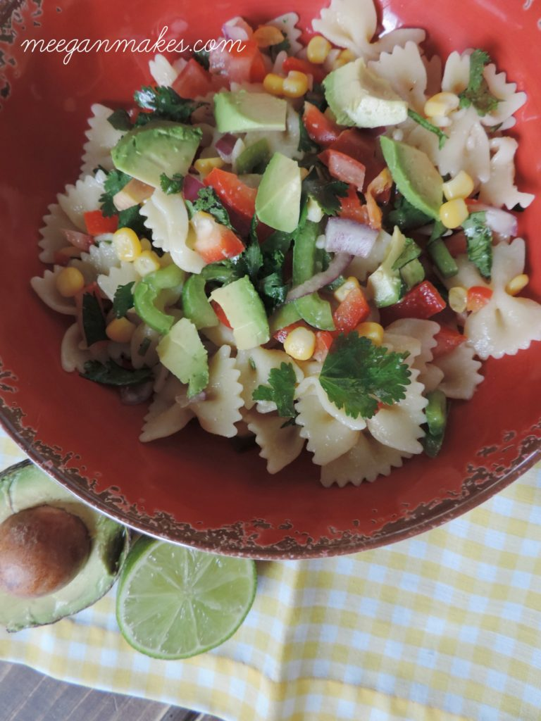 Bow Tie Pasta Salad with Lime Dressing