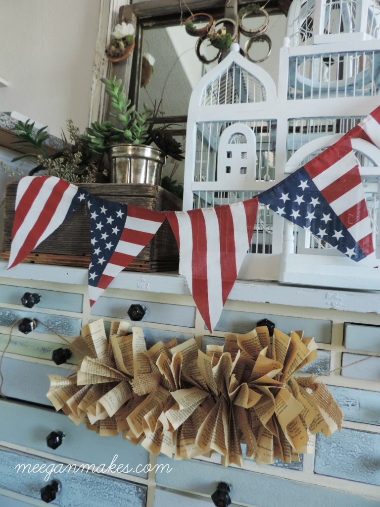 EASY Patriotic Banner by meeganmakes.com