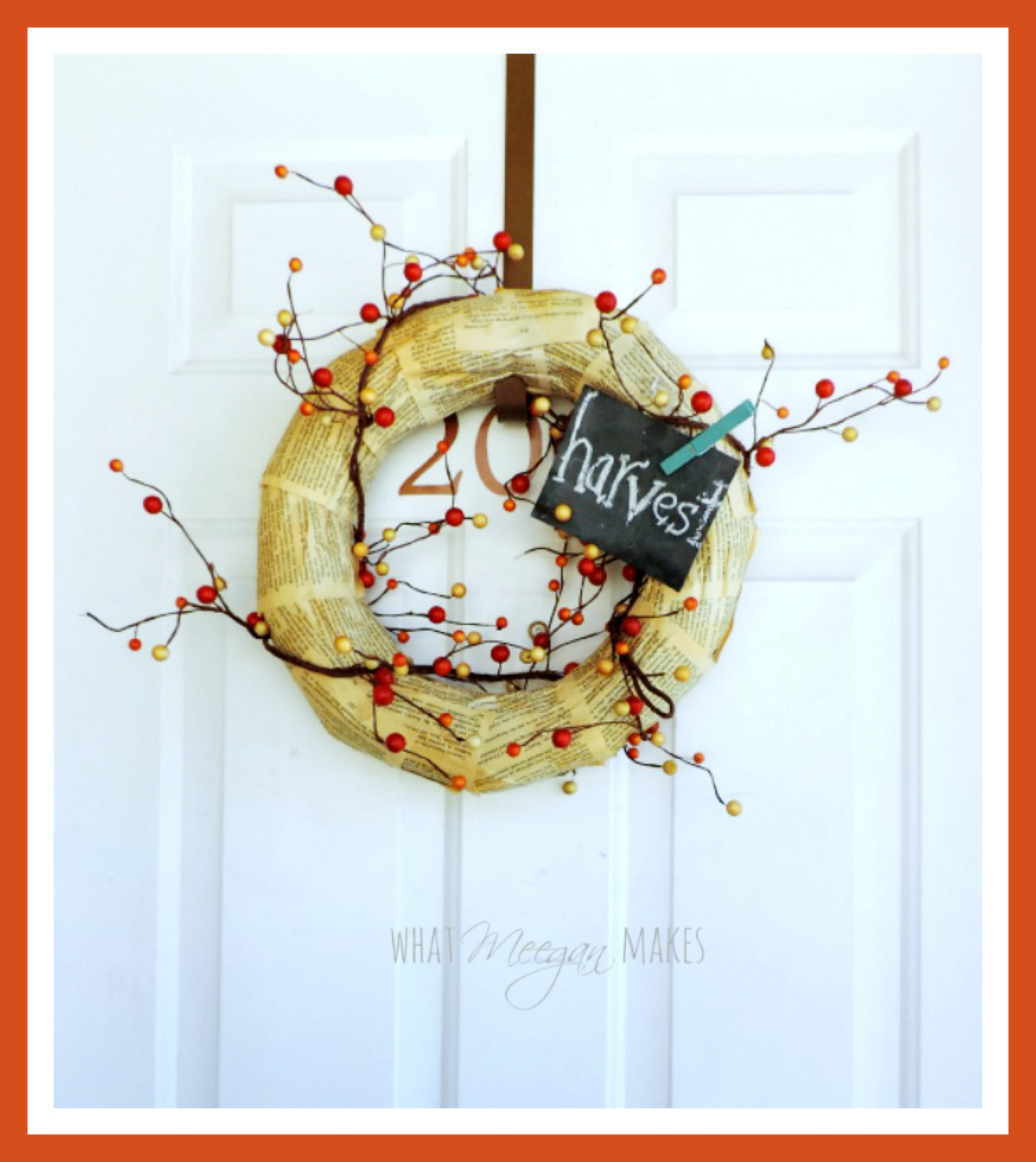 Fall-Book-page-wreath by meeganmakes.com