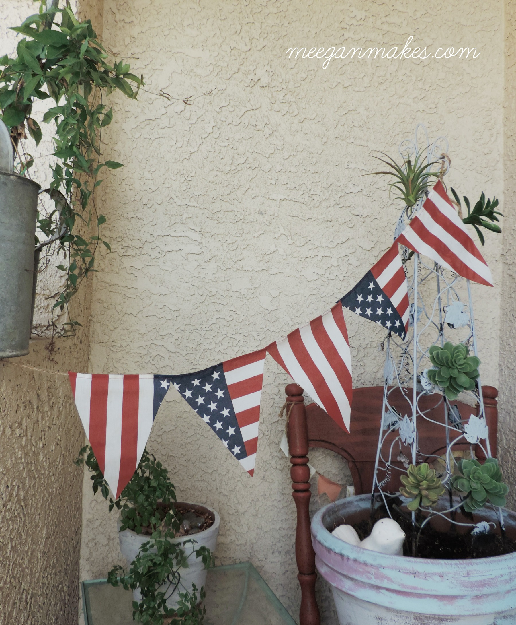 How To Make a Patriotic Pennant