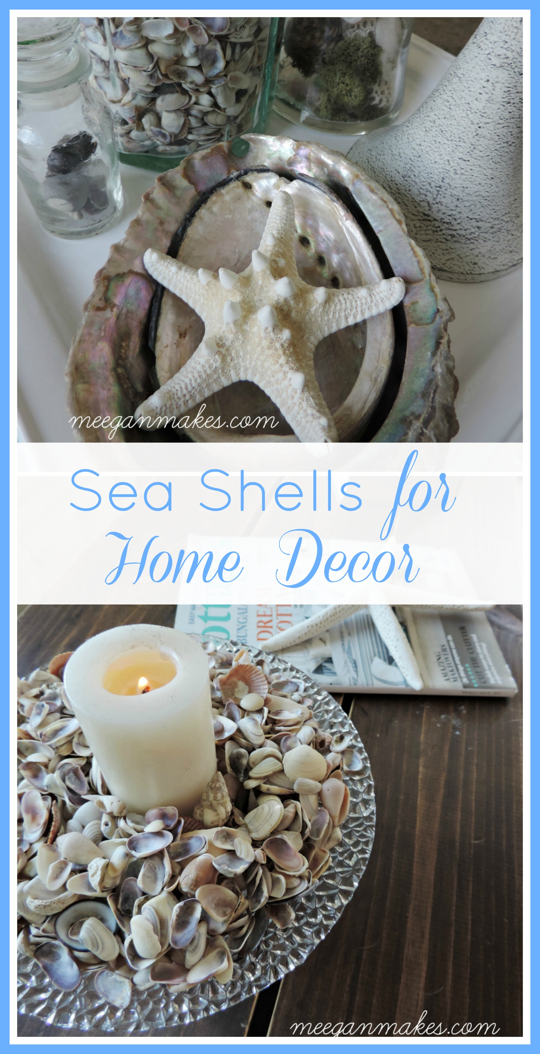 Decorating for summertime with shells what meegan makes for Shells decorations home