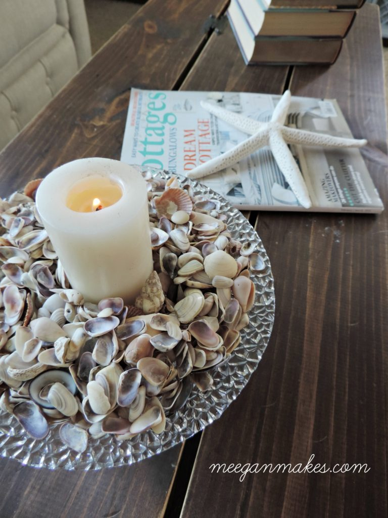Shells and Candles for Summer Decorating