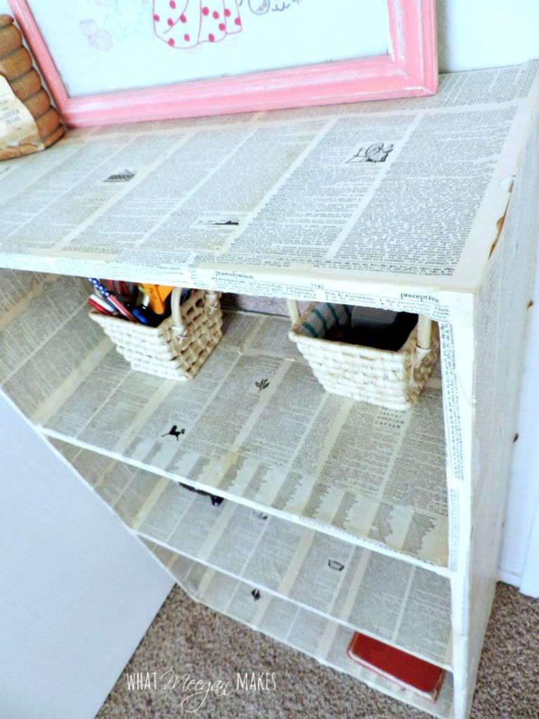 Decoupage-Bookcase