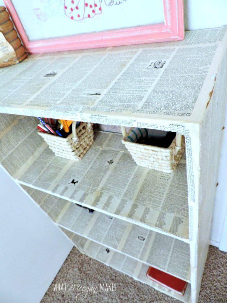 Decoupage-Bookcase