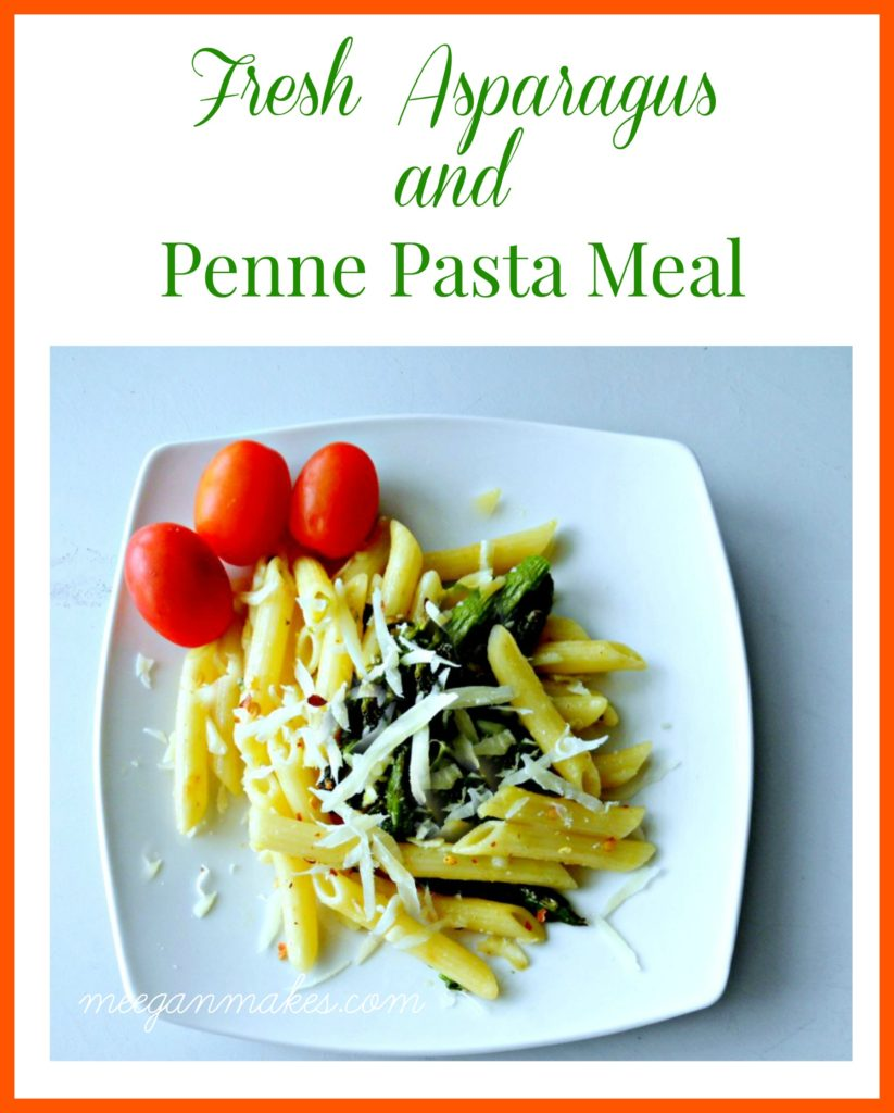 Fresh Asparagus and Penne Pasta Meal from meeganmakes.com