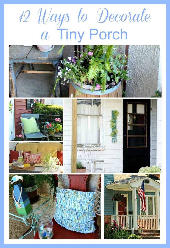 12 Ways To Decorate a TINY Porch by meeganmakes.com