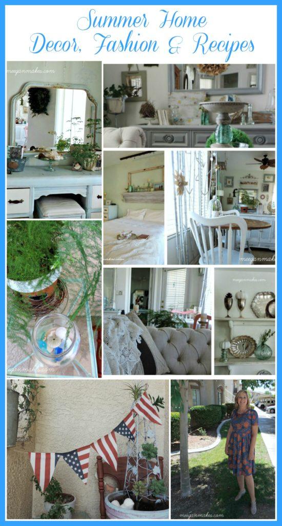 Summer Home Decor, Fashion & Recipes by meeganmakes.com