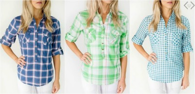 Cents of Style Button Button Up Plaid