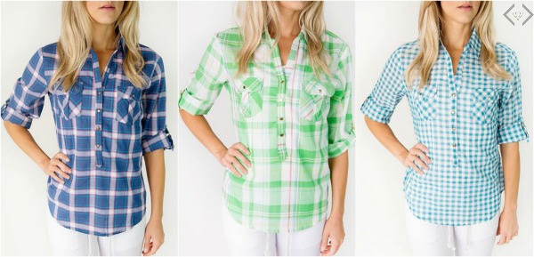 Cents of Style Button Up Plaid