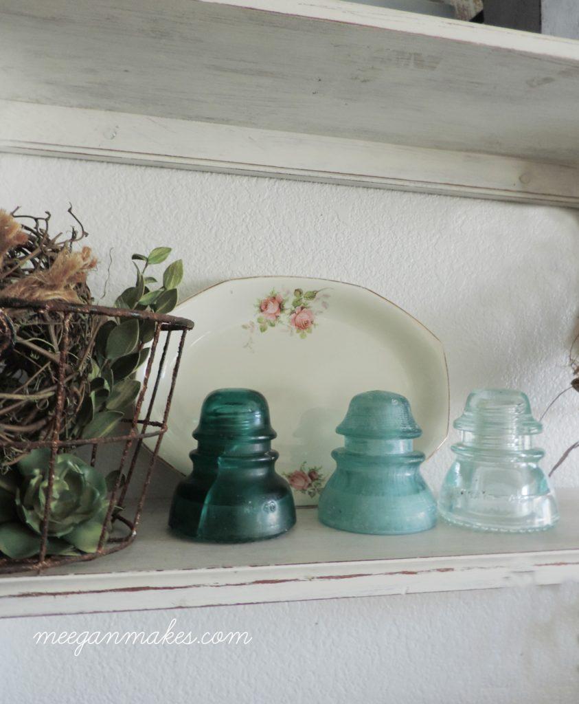 Vintage Styled Kitchen Shelves