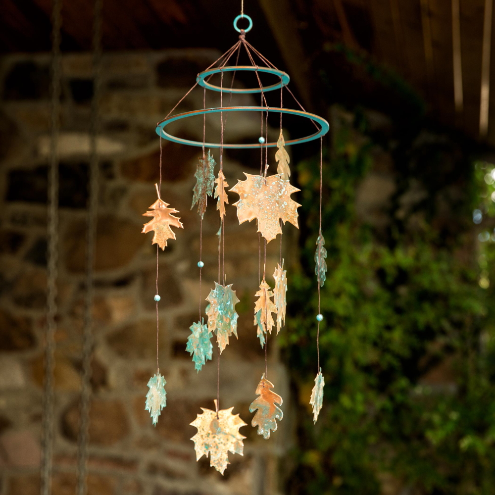 diy-copper-leaf-mobile