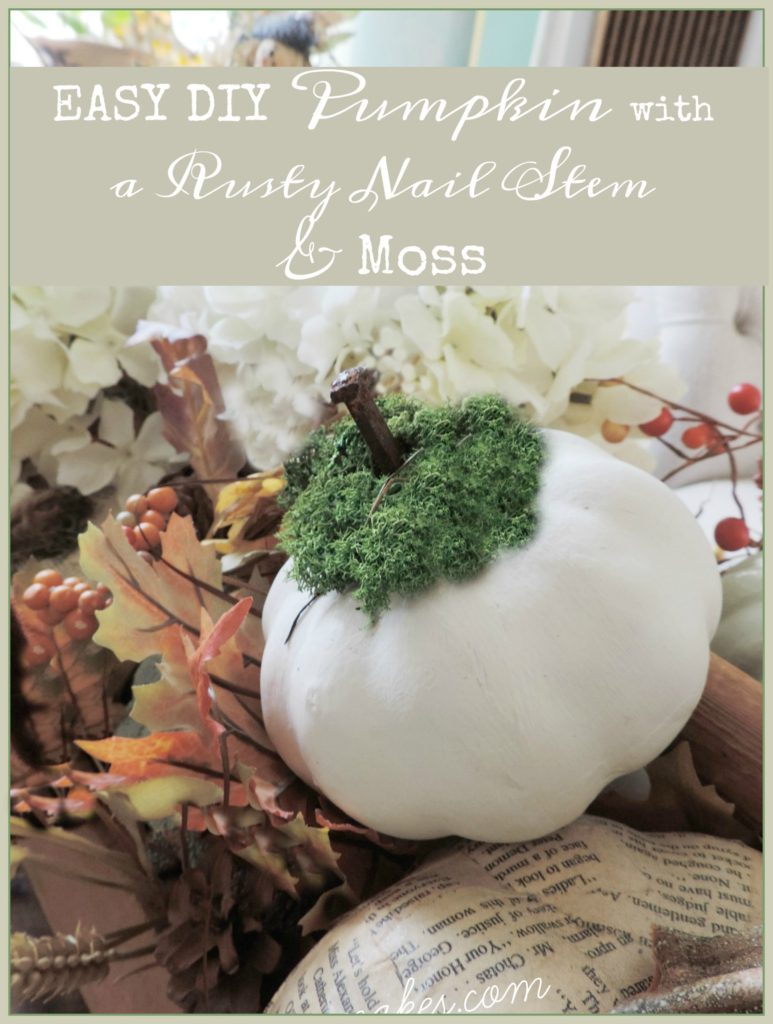 easy-diy-pumpkin-with-a-rusty-nail-stem-and-moss-easy-peasy